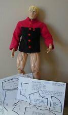 "Two-Tone Fleece Jacket Pattern 22MOH12 For 22"" Men of Honor Dolls"