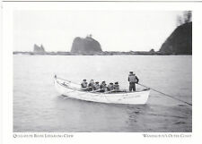 "*Postcard-""Quillayute River Lifesaving Crew"" @ Washington's Outer Coast- (A80-2)"
