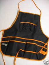 Negro Delantal Con Naranja recoertar 11 Bolsillos & abrebotellas - Cocina Pub