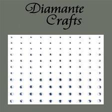 1mm 2mm 3mm Clear Diamante Self Adhesive Rhinestone Body Nail Vajazzle Gems -