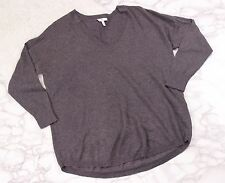 Joie gray knit tunic sweater 3/4 sleeves 5% cashmere blend womens size small