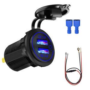 12V/24V Car Cigarette Lighter Socket Outlet Charger Power Adapter Waterproof