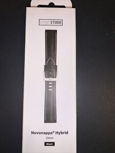 New Samsung watch 3 strap black Novonappa hybrid 22 mm