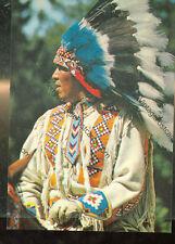 "NORTH AMERICAN INDIAN-HEAD DRESS-CANADA-4""X6"" POSTCARD(INDIAN4X6-113)"
