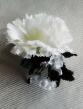 5. NEW IVORY  SILK CARNATIONBUTTONHOLES.WEDDING,.PARTY,GUESTS,OCCASSIONS