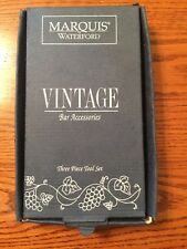 Marquis by Waterford 3 Piece Bar Tool Set Brand New In Box