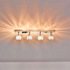 [Lux.Pro]® Plafoniera 4 sfere di cristallo 49cm Lampada da soffitto ad effetto