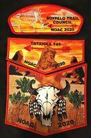 TATANKA OA LODGE 141 BSA BUFFALO TRAIL FLAP 2020 NOAC 3-PATCH SET ONLY 100 MADE!