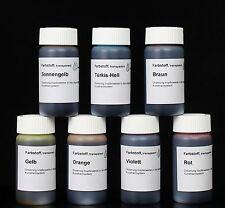 Farbstoff transparent flüssig Set 7 mal 20 mL Färbemittel Farbmittel