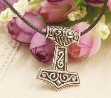 Pendentif Mjöllnir Viking Celte MARTEAU de THOR Hammer Pendent Necklace Cordon