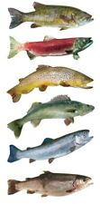 Scrapbooking Crafts Stickers Paper House Slim Fresh Water Fish Bass Trout Red