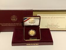 GOLD COMMEM 1996-W  $5.00  OLYMPIC TORCH A 1/4 OZ OF GOLD OGP