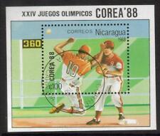 NICARAGUA USED 1988 OLYMPICS - SEOUL BASEBALL MINISHEET