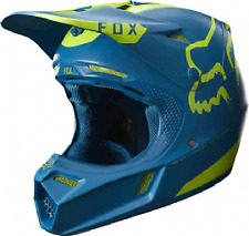 2017 Fox V3 Moth Teal Motocross Helmet Size Medium BNIB