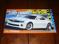2012 CHEVROLET COPO CAMARO CONCEPT RACE CAR *DOUBLE SIDED SALES SHEET / BROCHURE