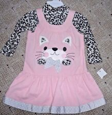 girls clothes dress pink set outfit 2 T Toddler baby girl corduroy wonderkids