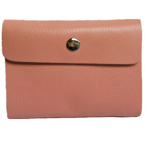 Baby Pink Real Leather Oyster Card Business ID Wallet Holder Genuine GIFT