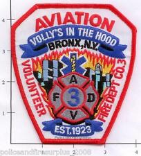 New York City NY Fire Dept Aviation Volunteer Fire Company 3 Fire Dept Patch