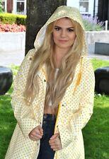 Asos lunares amarillos PVC Mac/capa De Lluvia Lindo Festival De moda Talla 6