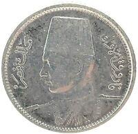 1937 (AH 1356) EGYPT 2 PIASTRES SILVER COIN KING FAROUK KM#365