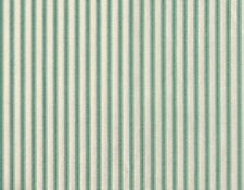 """Tailored 18"""" French Country Ticking Stripe Pool Blue-Green Cal King Bedskirt"""