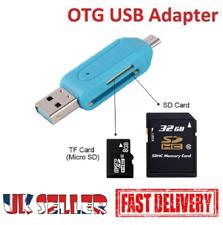 Lector de tarjeta de memoria Micro USB OTG a USB 2.0 Adaptador SD/Micro SD Tarjeta de Reino Unido 3 en 1