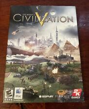 Sid Meier's Civilization 5 V for Mac CD Retail box w/ Technology Tree and Manual