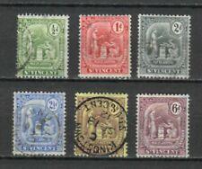 s22684) S. VINCENT VF USED 1909/11 Definitives 6v. Y&T 98/103