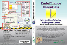 Embrilliance Essentials Machine Embroidery Software Win&Mac Lettering Editing+++