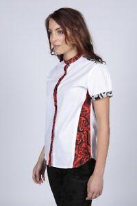Women Ladies Girls Cotton With Print Summer Shirt, Top, Blouse Size UK12, UK14