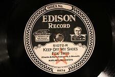 EDISON 51072 KAPLAN'S MELODISTS Keep Off My Shoes   E/E-