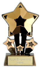 Gold Star Trophy FREE ENGRAVING 1st Place Personalised Engraved Award Winner NEW
