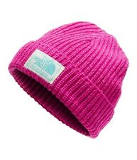 NWT~THE NORTH FACE~BABY PINK SALTY PUPPY WINTER BEANIE KNIT HAT~XS~6-24 MONTHS