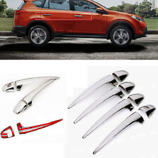 New Chrome ABS Car Auto Side Door Handle Catch Covers Trim for RAV4 2013-2015