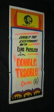 ORIGINAL1 of a kind Hand Made DOUBLE TROUBLE South Pacific Daybill ELVIS PRESLEY