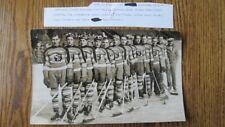 VINTAGE ORIGINAL 1936-37 SPRINGFIELD INDIANS HOCKEY TEAM PHOTO IHA AHL Rare!!!
