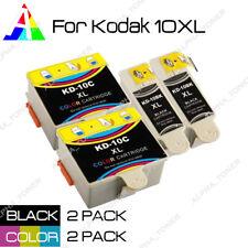 4PK 10XL BK & CLR Ink Cartridge Set For Kodak ESP 3 5 7 9 3250 5210 5250 Printer
