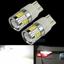 2X 7443 720 Lumen 5630 Chip White Backup Reverse High power LED Light Bulbs