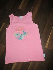 Kinder Pampolina T-Shirt Tunika Top Gr.128 Rosa Zucker Süß mit Glitzer Wie NEU