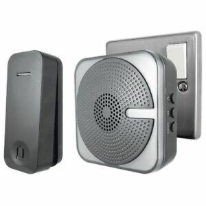 Uni-Com 66415 Kinetic plug-in door chime – black