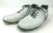 FootJoy Dryjoys Dna Golf Shoes White/Navy 53437 Sz 11.5