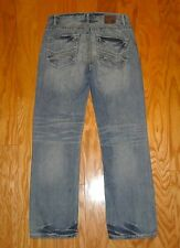 Men's BKE Jeans Distressed Denim Size 33 Tyler Straight Fit Buckle Rugged Light