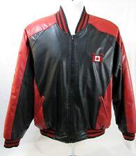 Steve & Barrys CANADA Hockey Bomber Jacket Coat Sz Medium Red Black Faux Leather