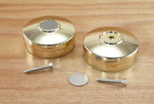 """Metal Round Chrome End Cap For 2"""" Stair Timber Bannister Handrail-Set of 2-New"""