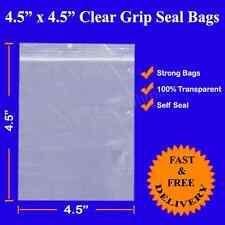 """1000 4.5"""" x 4.5"""" Thick Grip Joint Zip Lock auto-adhésive en polyéthylène clair Sac en plastique"""
