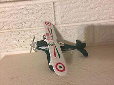 Accu-Flight Diecast British Propeller Stunt Biplane Pull Back Friction Toy New