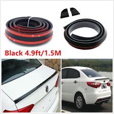 Flexible 4.9ft/1.5M Car Spoiler Trunk Rear Roof Lip Wing Protector Sticker Black