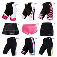 Women's Cycling Shorts Ladies Underwear Gel Padded Skort Skirts MTB Bike Pants