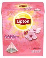 Lipton Cherry Blossom Sakura Tea pyramid type tea bag 12 bags Japan F/S s0482