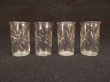 Anchor Hocking Juice Glasses Star Pattern Originally Jelly or Food Jar 5oz
